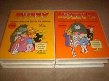 MUZZY BBC Language Course Children Kids VHS Audio Cassette SPANISH English LOT 2