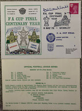 More details for leeds united v arsenal 1972 first day cover signed by allan clarke