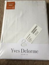 Yves Delorme King Size Fitted Bed Sheet White