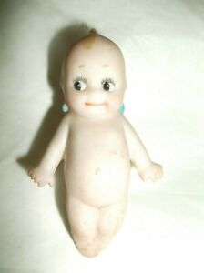 """Antique Germany Bisque Rose O'Neill 2 1/2"""" Mini Kewpie Doll Button Stud"""