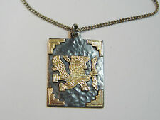 INCA GOD VIRACOCHA THE CREATOR/18K YELLOW OVER STERLING SILVER PENDANT N310-Q