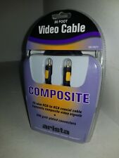 ARISTA 20 FT COMPOSITE  75-ohm  RCA to RCA Coaxial Cable 24K Gold connectors  Q7