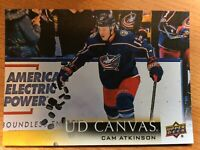 UPPER DECK 2018-2019 SERIES ONE CAM ATKINSON CANVAS HOCKEY CARD C-25