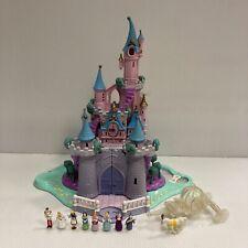 Polly Pocket 1995 Disney - jouet ancien chateau de Cendrillon avec figurines