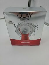 Olay Regenerist Facial Cleansing Brush Exfoliator w/ 2 Brush Heads, DENTED BOX
