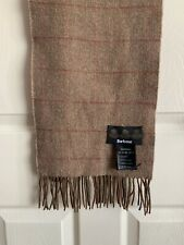 Barbour Brown Check 100% Lambswool Scarf