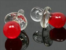 handmade lampwork Glas Anhänger Schnuller 14x21mm mu654