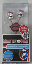 New Monster High Voltageous Bling Earbuds w/ Mic 3.5mm Universal Headphone Jack