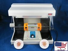Dental Lab Desk Jewelry Polisher Buffer + Vacuum Case Cover 110V DentQ