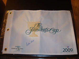 Mike Weir Signed 2009 President's Cup Golf Flag PSA/DNA Harding Park #2