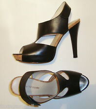 "BNIB:BEAUTIFUL ZOE WITTNER BLACK LEATHER HIGH HEELS  ""VANILLA"" 41"