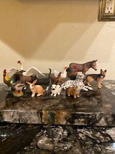 Schleich Animal Lot Dog, Duck, Chicken, Donkey, Goat, Rabbit, Cat, Guinea Pig