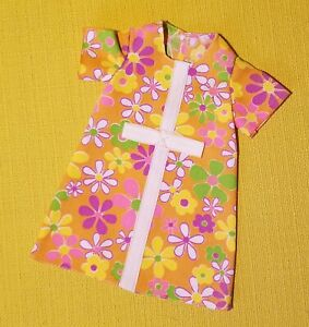 Vtg MOD Flowers Floral Dress Fashion Outfit Clothes for Ideal Crissy Doll