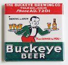 Buckeye Beer FRIDGE MAGNET sign advertisement Toledo Ohio