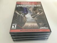 Transformers: The Game (Sony PlayStation 2, 2007) PS2 NEW