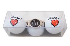 """Golf-Geschenk-Set: 2 Golfbälle """"DANKE!"""" und  Schuh-Clip mit Namen oder Initialen"""