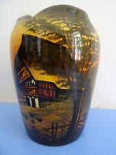 Schramberg Majolika Vase 50er Dekor Schwarzwald Rembrandt Keramikvase Keramik