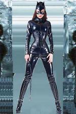 Amazing Shiny PVC Batgirl Catwoman Catsuit Fancy Dress COSTUME UK 8 10 12 14 16