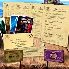 Harry Potter PERSONALISED Gift Set Hogwarts Acceptance Letter & Express Ticket j