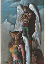 Hawkman and Hawkgirl Painted Art Commission - Signed art by Mark Texeira