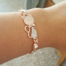 Cat Bracelet Chain Crystal Jewelry Woman Fashion Crystal Bangle Rose Gold