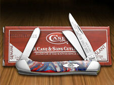 CASE XX Slant Series Star Spangled Banner Medium Stockman 1/2500 Pocket Knife