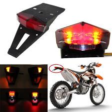 Universal Dirt Enduro Bike LED Rear Fender Brake Tail Light Turn Signal Off-road