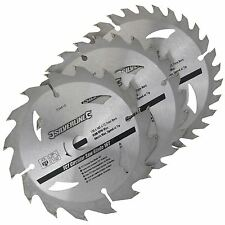 3 Circular Saw Blades 135mm Diameter 10mm Bore 10 & 12.7mm Bushes Mitre