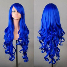 Womens 80cm Long Wavy Natural Curly Wigs Anime Fancy Synthetic Cosplay Full Hair