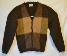 Vtg 60's 1970's Campus Mohair Cardigan Mens Sweater Size Medium
