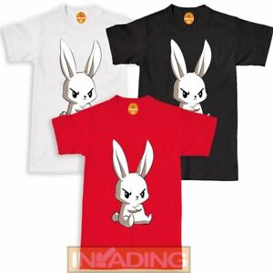 Angry BUNNY EAR Easter T-Shirt Adult Kids Girls Boys Easter Bunny Ears Rabbit