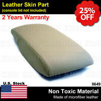 Leather Armrest Center Console Lid Cover Fits Toyota Camry 07-11 Beige Bisque