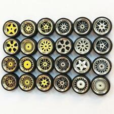 1/64 Alufelgen im Maßstab Customy Wheels Matchbox Tomy-Gummireifen Supply F3F6