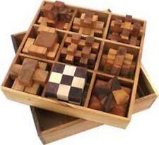 Magnifique Coffret luxe de 9 casse tête en bois dans son coffret bois