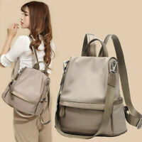 Woman Large Capacity Shoulder Bag Oxford PU Leather Backpack Casual Travel Bag