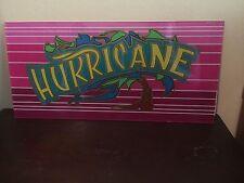 Vintage IGT Casino Glass Sign HURRICANE Sign Slot Machine-Video Poker-Pink