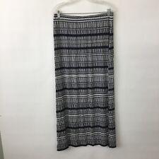 Ann Taylor LOFT maxi skirt Womens Medium blue white stretch