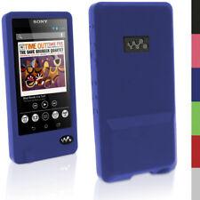 Igadgitz Bleu gomme Etui Silicone Gel pour Sony Walkman Nwz-zx1 Protecteur D'écran