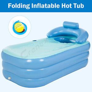 Inflatable Adult Bath Tub  Portable Foldable Bathtub Blow Up travel bath pool