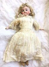 "Antique Bisque German Porcelain Doll Original Clothes Signed ""K"""