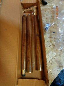 Walking canes to clear, solid timber with solid brass handles