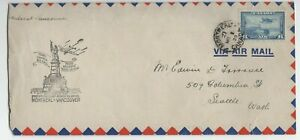 Canada AIR MAIL special flight cover 1939 Montreal-Vancouver