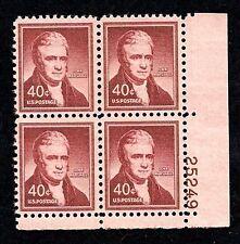 1955 - JOHN MARSHALL - #1050a Mint -MNH- Plate Block