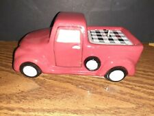 """Red Pickup Truck Candle Holder With Cinnamon Scented Candle 7""""×4.5"""" Farmhouse"""