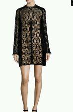 Nanette Lepore Women's black Lace  with velvet  Dress Size 4 NWT $598