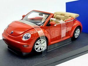AUTOart VW Volkswagen New Beetle Sundown Orange Cabriolet 1:18 Scale - New