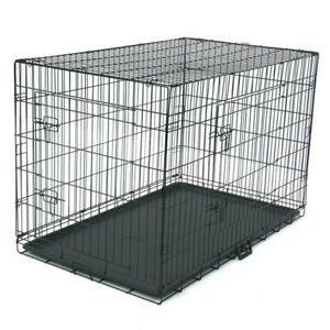 "XXL pet crate 48"" Dog CageFolding Steel Crate Animal Playpen Wire Metal Kennel"