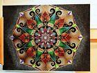 Holiday gift idea Original Dot art Large Mandala Painting