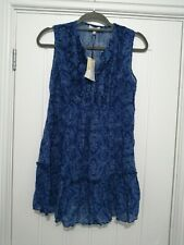 Papaya Weekend Blue Crinkle Twist Ladies Blouse Size 10 BNWT