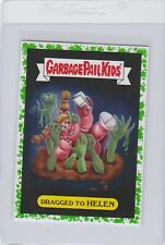 Garbage Pail Kids Dragged To Helen 4a Green Border Card GPK 2017 Adam Geddon